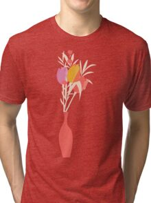 Spring flower pattern, tulips and lilies, 004 Tri-blend T-Shirt