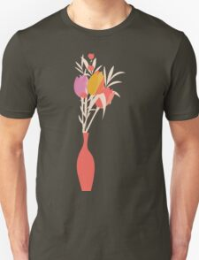 Spring flower pattern, tulips and lilies, 004 Unisex T-Shirt