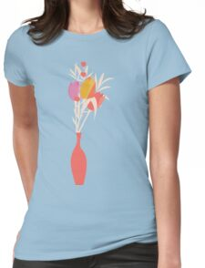 Spring flower pattern, tulips and lilies, 004 Womens Fitted T-Shirt