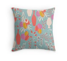 Spring flower pattern, tulips and lilies, 004 Throw Pillow