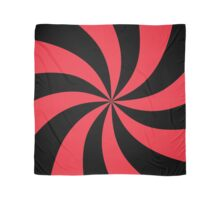 Black and Red Spiral Pattern Scarf