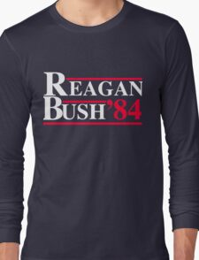 Reagan Bush '84 Retro Logo Long Sleeve T-Shirt