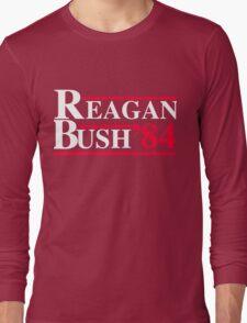 Reagan Bush '84 Retro Logo Long Sleeve T-Shirt