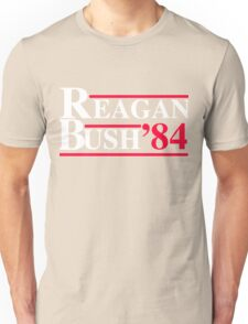Reagan Bush '84 Retro Logo Red White Blue Election Ronald George 1984 84 Unisex T-Shirt