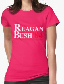 Reagan Bush '84 Retro Logo Womens Fitted T-Shirt