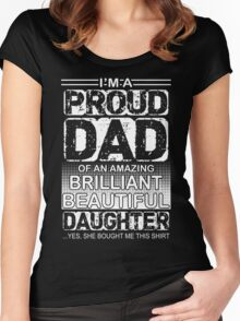 Proud dad of an amazing daughter  Women's Fitted Scoop T-Shirt