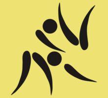 Olympic sports judo pictogram Kids Tee