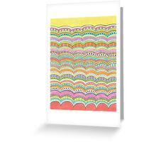bright, wavy patterned stripes Greeting Card