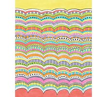 bright, wavy patterned stripes Photographic Print
