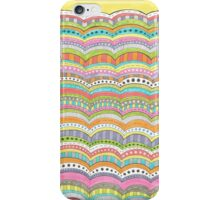 bright, wavy patterned stripes iPhone Case/Skin