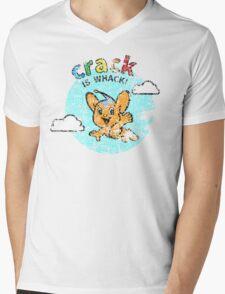 Pipo-Kun - Crack is Whack! - Distressed Mens V-Neck T-Shirt