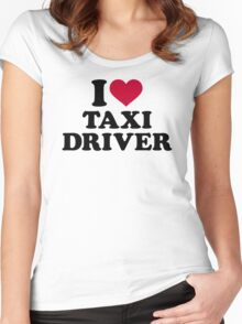 I love taxi driver Women's Fitted Scoop T-Shirt