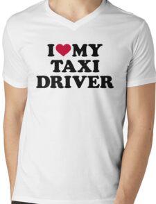 I love my taxi driver Mens V-Neck T-Shirt
