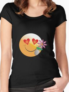 Romantic smiley Women's Fitted Scoop T-Shirt