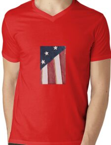 USA flag background Mens V-Neck T-Shirt