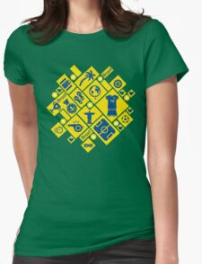 Brazil football icons Womens Fitted T-Shirt