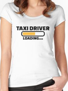 Taxi driver loading Women's Fitted Scoop T-Shirt