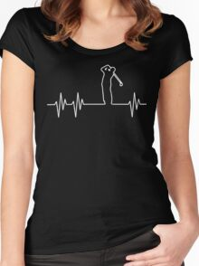 Golfer Limited Edition Heartbeat T-Shirt Women's Fitted Scoop T-Shirt