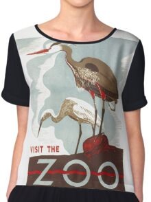 Visit the Zoo Chiffon Top