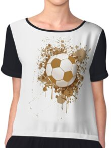 Soccer ball art Women's Chiffon Top