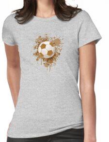 Soccer ball art Womens Fitted T-Shirt