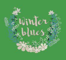 Winter Blues 004 Kids Tee
