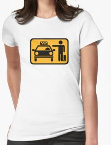 Taxi station Womens Fitted T-Shirt