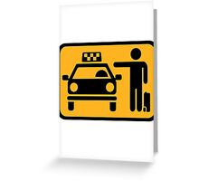 Taxi station Greeting Card