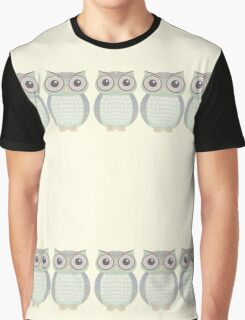 Cool Owl Trio Graphic T-Shirt