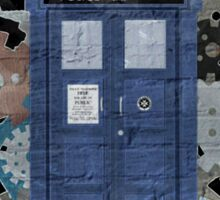 The Blue Box, Doctor Who inspired Art Sticker