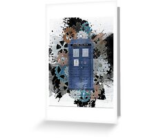 The Blue Box, Doctor Who inspired Art Greeting Card
