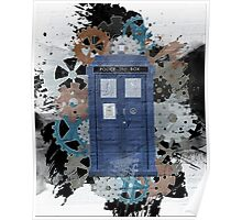 The Blue Box, Doctor Who inspired Art Poster