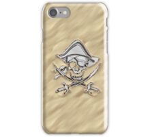 Chrome Pirate Crossbones in Sand iPhone Case/Skin