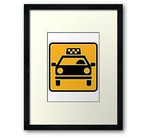 Taxi logo Framed Print