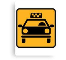 Taxi logo Canvas Print