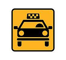 Taxi logo Photographic Print
