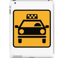 Taxi logo iPad Case/Skin