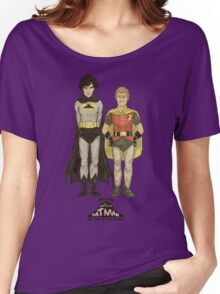 The Adventures of Hat-man and John the Boy Wonder Women's Relaxed Fit T-Shirt