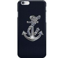 Chrome Style Nautical Rope Anchor Applique iPhone Case/Skin