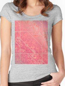 Pink Marble texture Women's Fitted Scoop T-Shirt