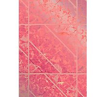 Pink Marble texture Photographic Print