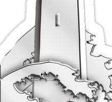 Nautical Chrome Mighty Lighthouse Sticker
