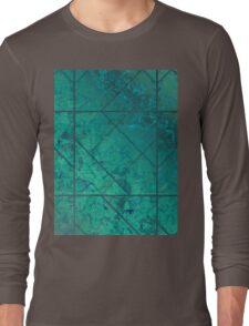 Green Marble Texture Long Sleeve T-Shirt