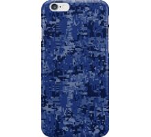 Navy Blue Digital Camo iPhone Case/Skin