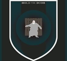 House Hodor Sigil - Hold the Door (Print) by Alexkr777
