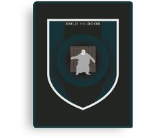 House Hodor Sigil - Hold the Door (Print) Canvas Print