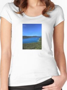 River in Croatia Women's Fitted Scoop T-Shirt
