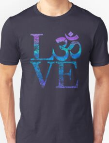 OM LOVE Spiritual Symbol in Distressed Style Unisex T-Shirt