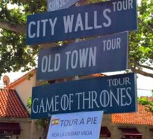 Tour Guide and Routes in Dubrovnik - Croatia Sticker