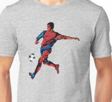Football player in action Unisex T-Shirt